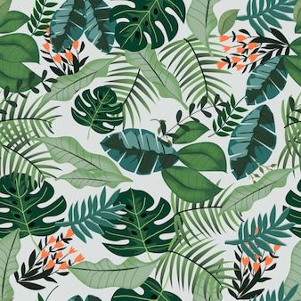 Modello senza cuciture della giungla tropicale della pianta