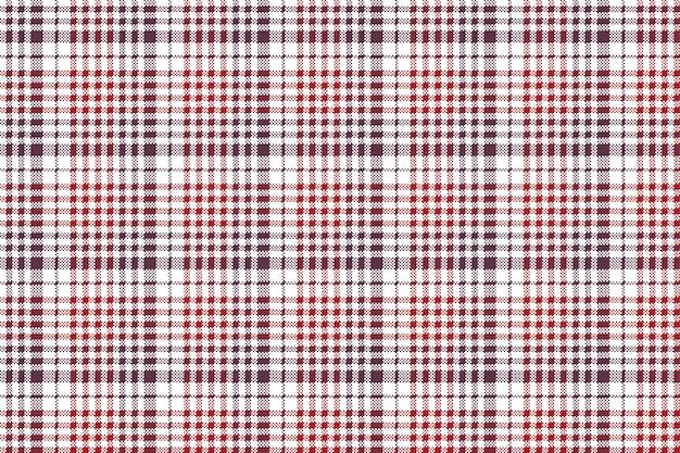 Modello senza cuciture della tovaglia del plaid del controllo di struttura del tessuto del pixel