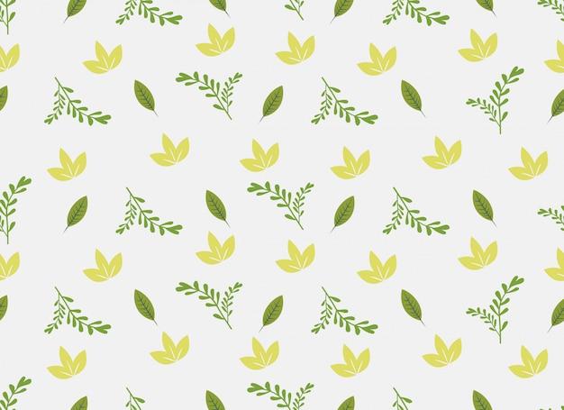 Modello senza cuciture delle foglie tropicali su fondo bianco.