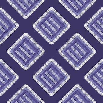 Modello senza cuciture delle mattonelle geometriche del tappeto astratto del ricamo