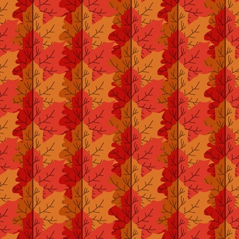 Modello senza cuciture delle mattonelle variopinte di autunno delle foglie di acero