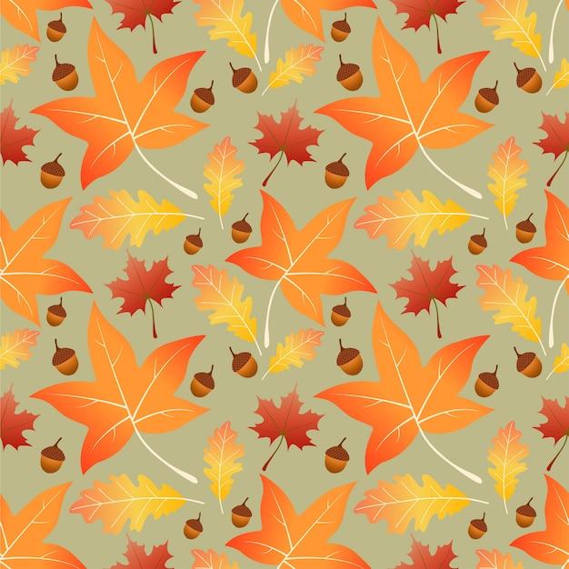 Modello senza cuciture di autunno delle foglie di acero
