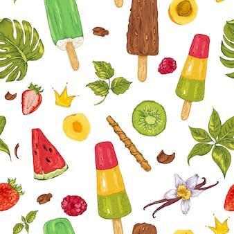 Modello senza cuciture di cibo naturale eco estate
