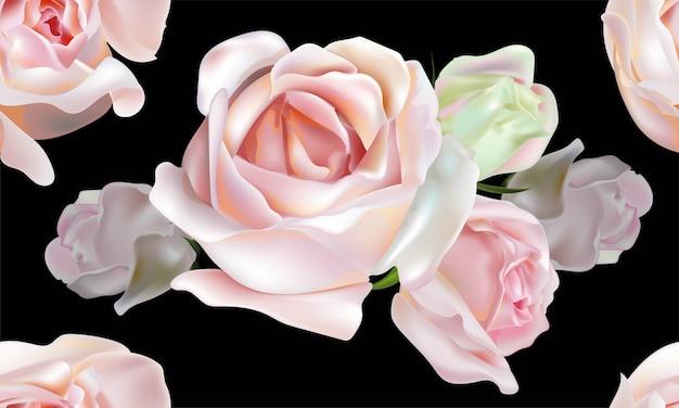 Modello senza cuciture di colore rosa di rosa