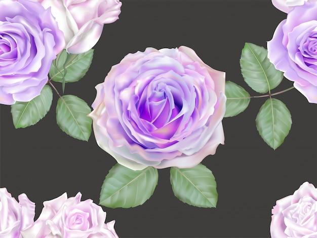 Modello senza cuciture di colore viola della rosa