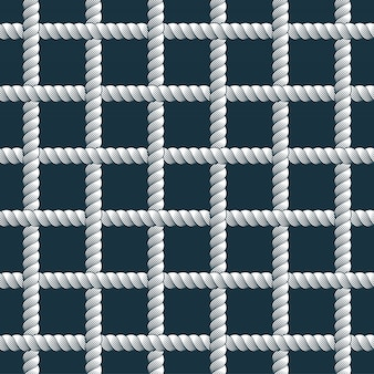 Modello senza cuciture di corda, sfondo di carta da parati alla moda di vettore. cavo con nodi illustrazione elegante senza fine. utilizzabile per tessuto. carta da parati, avvolgimento, web e stampa