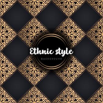 Modello senza cuciture di design etnico di lusso