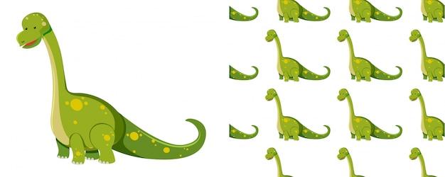 Modello senza cuciture di dinosauri su bianco