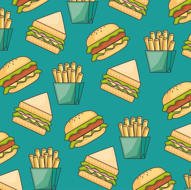 Modello senza cuciture di fast food