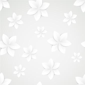 Modello senza cuciture di fiori di carta bianca