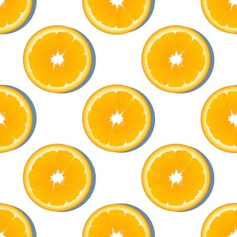 Modello senza cuciture di frutta fetta d'arancia