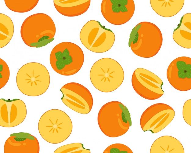 Modello senza cuciture di frutta fresca di cachi