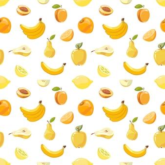 Modello senza cuciture di frutti gialli