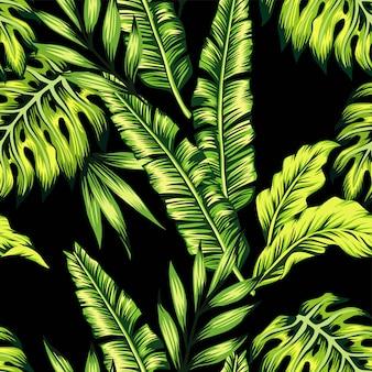 Modello senza cuciture di piante tropicali