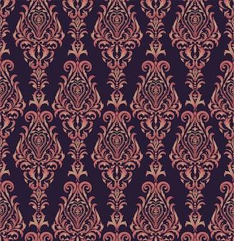 Modello senza cuciture di stile vittoriano viola rosso