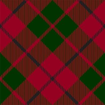 Modello senza cuciture di struttura del plaid del controllo rosso verde
