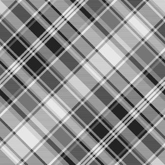 Modello senza cuciture di struttura del tessuto check grigio