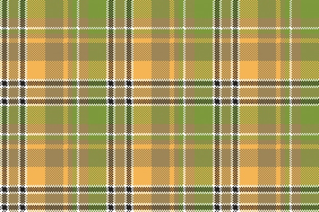 Modello senza cuciture di struttura gialla verde del pixel del tessuto