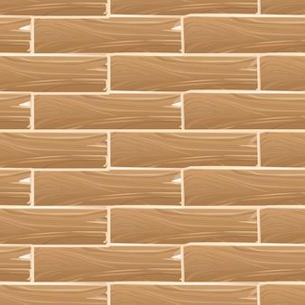 Modello senza cuciture di vettore del bordo delle plance di legno