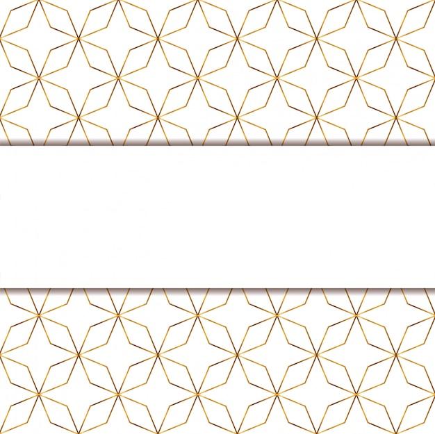 Modello senza cuciture e progettazione di vettore del fondo bianco dell'oro a strisce
