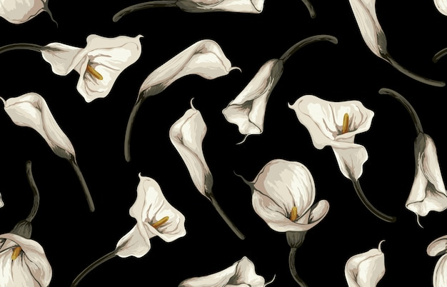 Modello senza cuciture elegante di arrossire tonica fiori rustici