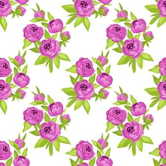 Modello senza cuciture floreale in fiori viola.