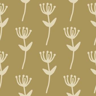 Modello senza cuciture floreale minimalista di autunno con le siluette del ramo