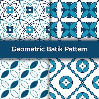 Modello senza cuciture geometrico del batik