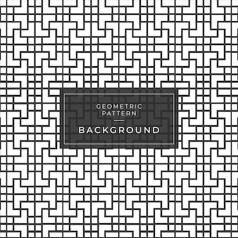 Modello senza cuciture geometrico in bianco e nero con strisce a zig-zag linea.