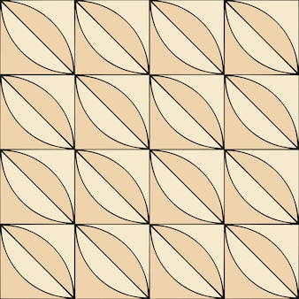 Modello senza cuciture geometrico in stile retrò in beige