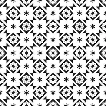 Modello senza cuciture geometrico sfondo bianco e nero