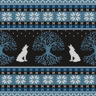 Modello senza cuciture in lana lavorata a maglia