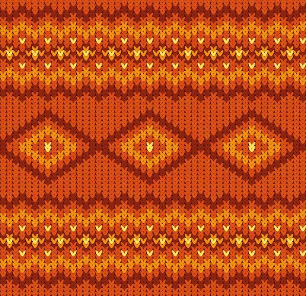 Modello senza cuciture lavorato a maglia nei colori rosso e arancione