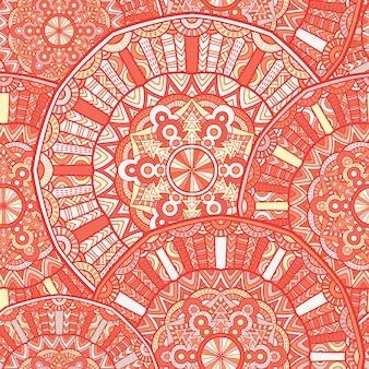 Modello senza cuciture mandala vector design per la stampa. ornamento tribale.