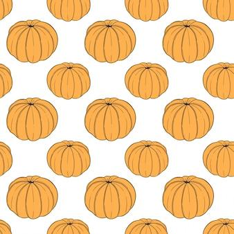 Modello senza cuciture mandarino fresco in stile doodle e schizzo.