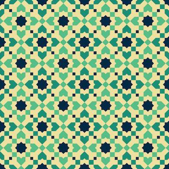 Modello senza cuciture mosaico stile marocchino