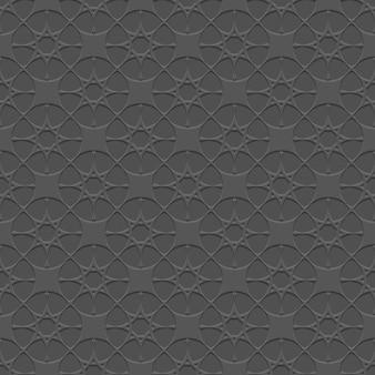 Modello senza cuciture nero con stelle stilizzate in stile arabo