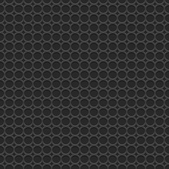 Modello senza cuciture nero geometrico 3d con i cerchi