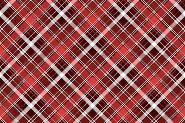 Modello senza cuciture plaid astratto diagonale rosso