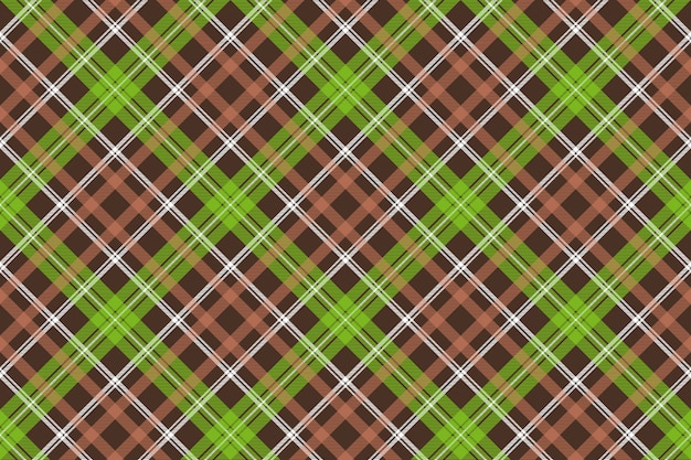 Modello senza cuciture plaid check marrone verde