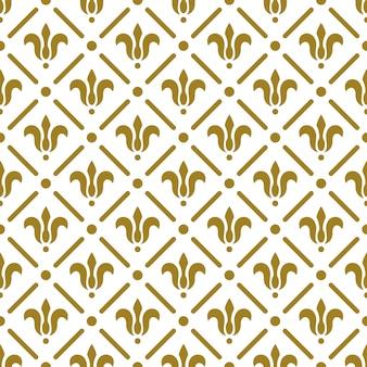 Modello senza cuciture reale di lusso. fiori d'oro su sfondo bianco. illustrazione elegante per la stampa, il design della confezione