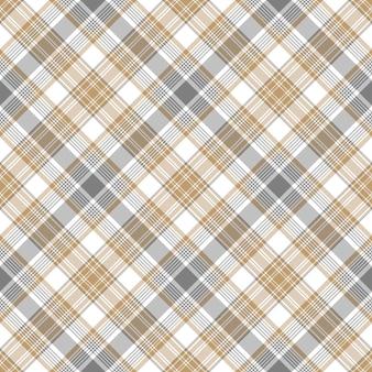 Modello senza cuciture scozzese a scacchi beige grigio