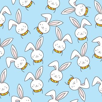 Modello senza cuciture sveglio del coniglietto