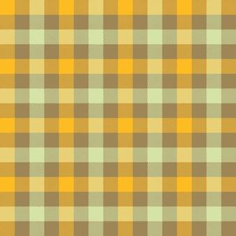 Modello senza cuciture tovaglia a quadri beige giallo