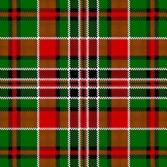 Modello senza cuciture verde pixel check quadrato rosso