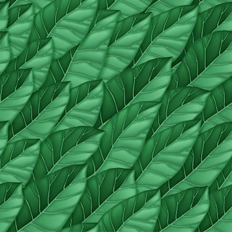 Modello senza giunture di foglie verde scuro. ripetizione del modello di foglie. texture per sfondo, carta da parati, tessile, imballaggio, stampa. illustrazione.