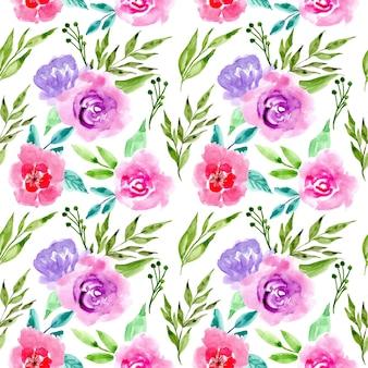 Modello senza saldatura bellissimo fiore dell'acquerello