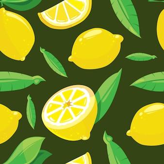 Modello senza saldatura con fettine di limone