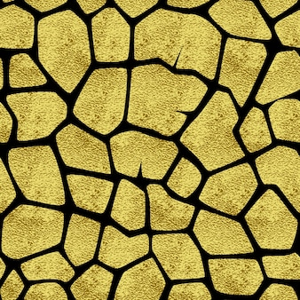Modello senza saldatura con giraffa macchie d'oro. lo sfondo per i prodotti stampati, web, cartoline, banner, ecc.
