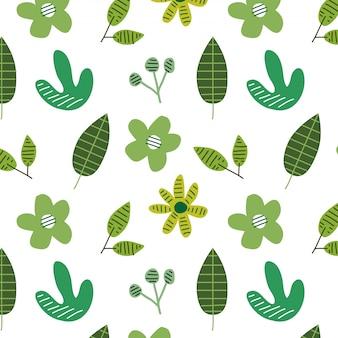 Modello senza saldatura con piante verdi